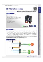 ORing 産業用PoE++インジェクタ【INJ-102GT++-24V】 表紙画像