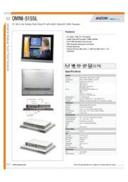 AAEON 15インチ産業用タッチパネルPC【OMNI-5155L】 表紙画像