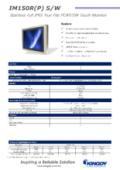 15インチ全面防水(IP65)ゼロベゼル液晶ディスプレイ KINGDY IM150P(R)S/W 製品カタログ 表紙画像