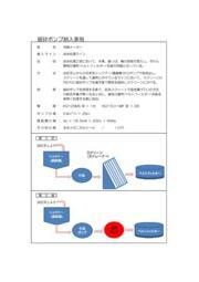 洗剤メーカー 排水処理ライン濾布破損防止 納入事例 表紙画像