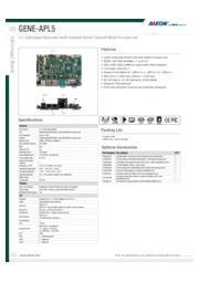 AAEON 3.5インチ産業用ファンレスCPUボード【GENE-APL5】 表紙画像