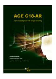 ACE C18-AR HPLCカラム 表紙画像