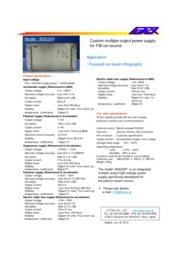 FIBイオン銃用+30KV高圧電源・高精度タイプ IB303XP 表紙画像
