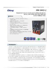 ORing 産業用シリアル-イーサネットデバイスサーバ【IDS-342+】 表紙画像