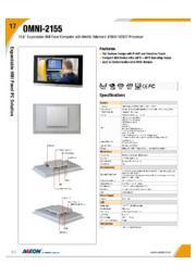 AAEON 15.6インチファンレスタッチパネルPC【OMNI-2155】 表紙画像