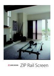 ZIPrail(R)Screen(ジップレールスクリーン) ※事例付き製品カタログ 表紙画像