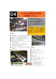 スウェーデン鋼・耐摩耗鋼板『HARDOX(ハルドックス)』スクリュー製品事例 表紙画像