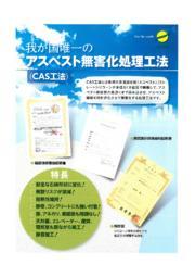 アスベスト無害化処理工法『CAS工法』 表紙画像