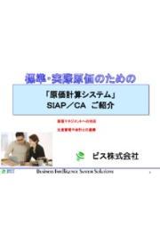 標準・実際原価のための「原価計算システム」SIAP/CA 表紙画像