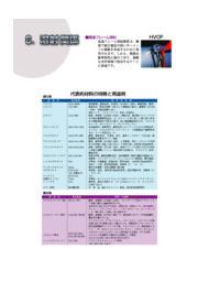 溶射関係『代表的材料の特長と用途例』 表紙画像