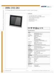 AAEON 10インチ産業用タッチパネルPC【OMNI-3105-SKU】 表紙画像