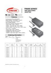 TR60M  医療用(IEC60601)AC/DCアダプタ 入力90V-264V 出力5V-48V 60W 表紙画像