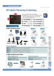 IEI VESA75/100デスクトップスタンド【STAND-C19】 表紙画像
