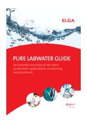 純水精製ガイドブック『Pure LabWater Guide』 表紙画像