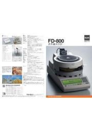 赤外線水分計 FD-800 表紙画像