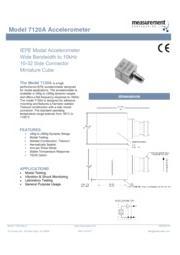 TE Connectivity Sensor Solutions社製 加速度計7120A 英文 表紙画像