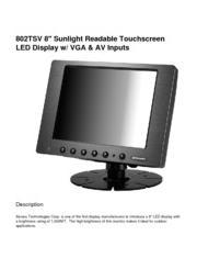 液晶ディスプレイ XENARC 802シリーズ 製品カタログ 表紙画像