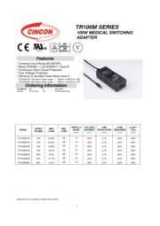 TR100M  医療用(IEC60601)AC/DCアダプタ 入力90V-264V 出力5V-48V 100W 表紙画像