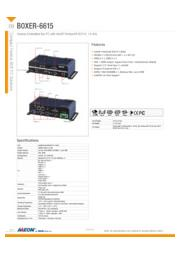 AAEON 産業用ファンレス小型PC N3710搭載【BOXER-6615】 表紙画像