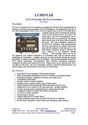 LS-11-F Portable FM Test Transmitter 表紙画像