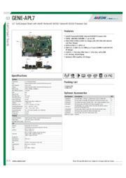 AAEON 3.5インチ規格組込み用CPUボード【GENE-APL7】 表紙画像