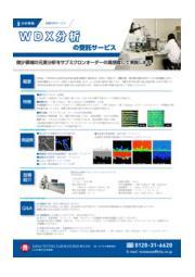 WDXによる元素分析の受託サービスカタログ 表紙画像