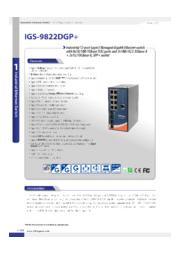 【10G対応 / 産業向け / 管理ギガビットスイッチハブ / CC-LINK IE Field対応】IGS-9822DGP+ 表紙画像
