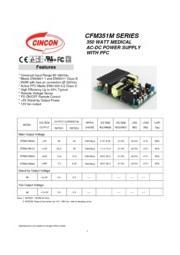CFM351M  医療用 AC/DCスイッチング電源 入力90V-264V 出力5V-48V 350W 組み込み型電源 表紙画像