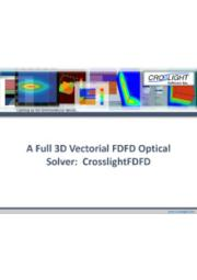 Crosslight FDFDの紹介(A Full 3D Vectrial FDFD Optical Solver) 表紙画像