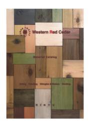 Western Red Cedar カタログ 表紙画像