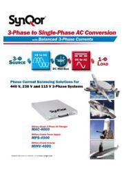 SynQor 防衛用艦艇・航空機向け 『三相→単相 電力変換装置』 表紙画像