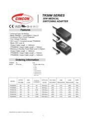 TR30M  医療用(IEC60601)AC/DCアダプタ 入力90V-264V 出力5V-24V 30W 表紙画像