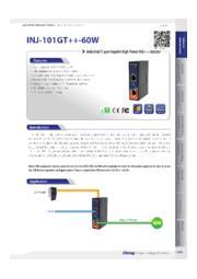 【小型・シンプル設計/60W PoE出力可能/PoEインジェクター】INJ-101GT++-60W  表紙画像
