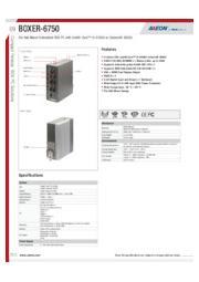 AAEON 産業用組込み小型PC【BOXER-6750】 表紙画像