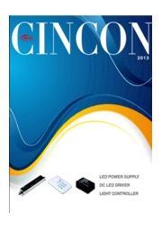 CINCON LED照明 電源カタログ AC/DCスイッチング電源 DALI対応 定電流 表紙画像