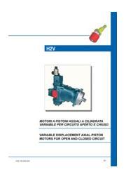 斜軸式可変容量ピストンモーター「H2V シリーズ」 表紙画像
