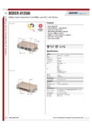 AAEON JetsonTX2搭載AIエッジPC【BOXER-8120AI】 表紙画像