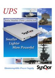 SynQor 防衛(軍事)用途向け超軽量UPS(無停電電源装置) 表紙画像