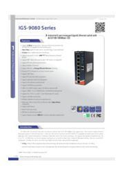 【管理型ギガビットスイッチ】  IGS-9080  表紙画像