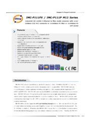 【シンプル小型設計/M12コネクタ/光メディアコンバータ】IMC-P111-M12シリーズ 表紙画像