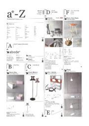 インテリア雑貨『アボード製品ラインアップ』  表紙画像