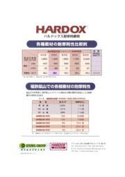 SSABスウェーデン鋼耐摩耗鋼板 HARDOX(ハルドックス)と各種鋼材耐摩耗比較表 表紙画像
