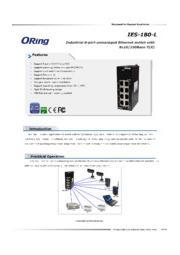 ORing 8ポート産業用ファストイーサネットスイッチ IES-180-L 表紙画像