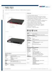 AAEON 1Uネットワークアプライアンス LAN×6【FWS-7821】 表紙画像