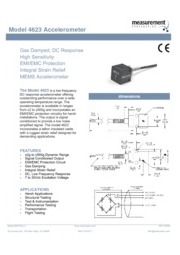TE Connectivity Sensor Solutions社製 加速度計4623 英文 表紙画像