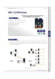 産業用小型タイプメディアコンバータ【IMC-121FB】 表紙画像