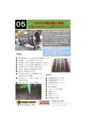 スウェーデン鋼・耐摩耗鋼板『HARDOX(ハルドックス)』ふるい・スクリーン・ダイスプレート製品事例 表紙画像