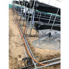 炭酸ガス局所施用配管 埋設工事