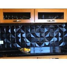 装飾タイル「Shapes Multishapes Black」施工画像