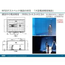RFIDの電波伝搬特性を実環境で計測できる大型電波暗室